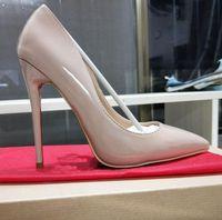 Luxury High Heel Women Leather Dress Shoes Designer Black Stiletto Heel Shoes Women Wedding Party Dress Shoes With Box, receipt #789