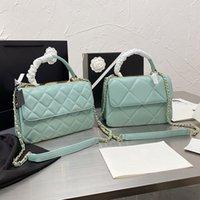 여성 LuxUrys 디자이너 가방 2021 1 어깨 핸드백 숄더 크로스 바디 캐리 - 짠 가죽 스트랩 CCCCC 하드웨어 로고 아이코닉 다이아몬드 패턴 2 크기 8 색