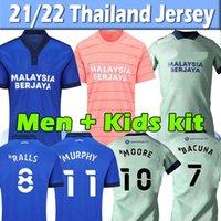 2021 2022 Cardiff Soccer Jerseys City Moore 21/22 Camisetas de Fútbol Morrison Ralls Murphy Honett Leandro Marlon Pack Bacuna Hommes + Kit Kit De Football Shirts Top