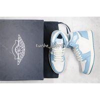 D × jumpman 1 عالية 1S رمادي فاتح أزرق جديد أحذية رجالي كرة السلة d'or luxurys مصممي أحذية رياضية مع niokieblade21 goodgoodsneakers