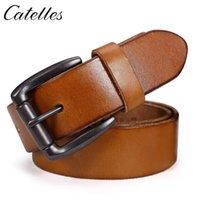 Мода натуральные кожаные ремни для мужчин сплава PIN-код Пряжки ремешка Джинсы первого слоя воловьего человека