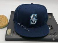 Лучшие продажи оптом высококачественные мужские сиэтлские спортивные колпаки команда плоский край на полевых шляпе полный замкнутый дизайн 7- Размер 8 встроенный бейсбол Горра