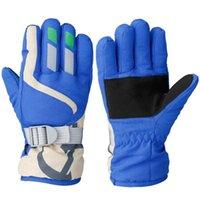 Five Fingers Gloves 1Pair Winter Waterproof Windproof Warm Boys Girls Ski Children Long-Sleeved Mittens Snow Must Outdoor Accessory
