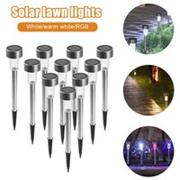 Solar Lamps 10PCS LED Garden Lights Outdoor Powered Lamp Lantern Waterproof Lighting For Pathway Patio Yard Lawn Decoration