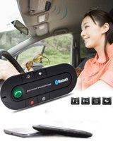 Car Bluetooth Kit Handsfree Wireless Speaker Phone MP3 Music Player Sun Visor Clip Speakerphone with Charger