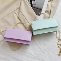 Evening Bags Fashion Women PU Leather Chain Shoulder Crossbody Messenger Bag Ladies Casual Solid Color Top-handle Small Handbag Purse