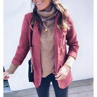 Women's Suits & Blazers Blazer Turn Down Collar Women Jackets Suit Slim Winter Causal Yards Ladies Work Wear Jacket Clothing SJ896P