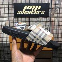 Высокое качество Paris Gucci тапочки слайдер мужские женские летние пляжные тапочки дамы шлепанцы мокасины черные белые розовые слайды женщин в помещении Chaussures обувь с коробкой