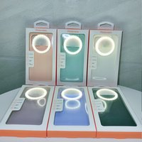 Fill Light Phone Cases For Iphone 11 12 Pro Max Xr 8 7 Plus Ring Flash Lamp Protective Cover Shell Intelligent Three Speed Beauty Live Selfie