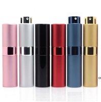 7 colori Bottiglia spray in metallo alluminio portatile riutilizzabile profumo profumo barattolo contenitore cosmetico contenitore vuoto atomizzatore da viaggio contenitori in vetro DHD7631