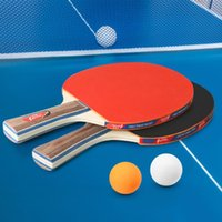 Table Tennis 2 لاعب مجموعة مضارب الخفافيش مع 3 كرات بونغ للمدرسة