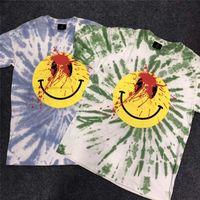 Travis Scott Astroworld Sicko Tee T-Shirt Üst Tees Yüksek Kaliteli Erkek Kadın Yaz Stil Kravat Boyama T-Shirt