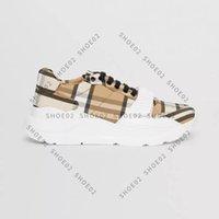 Hohe Qualität Sneaker Casual Schuhe Echte Leder Shell Sneakers Trainer Streifen Schuh Fashion Trainer Für Mann Frau Wish Box 01