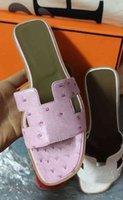 Frauen Designer Sandalen Damen Luxus Echtes Leder Hausschuhe Flip Flops Schuh Oran Sandale Party Hochzeitsschuhe mit Kastengröße 35-43 278