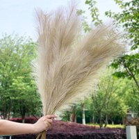 Decorative Flowers & Wreaths 1Pcs 120cm Artificial Reed Flower Bouquet Plume Pampas Grass Dried For Home Room Decor Wedding Birthday Party S