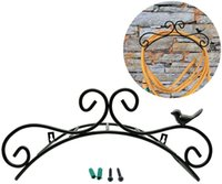 Titular da mangueira de Waco Bird artesanato braquetes decorações de jardim, parede montagem pendurado hanger hanger ferro fundido estilo antigo estilo cintas de água estante de armazenamento de banho prateleira rústica