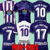 Real Valladolid 21 22 22 Футбольные трикотажки Lucas Olaza Home Away Anuar Fede S. R. Alcaraz Sergi Guardiola óscar Plano 2021 2022 Camisetas de Fútbol Men + Kids Kit Футбольные рубашки