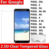 2.5D 0.33mm Net Temizlenmiş Cam Telefon Ekran Koruyucu için Google Piksel 5 5XL 5A 4 4A 4XL 3A 3 XL 2 Opp Torba