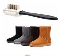 أسود 3 فرشاة تنظيف جانبي للأحذية من جلد الغزال nubuck shae shoe shoe shoe cleanovation cleanovation cleaning care 249 v2