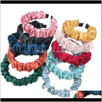 Fashion Satin Silk Solid Color Scrunchies Elastic Bands Women Girls Elegant Ponytail Holder Ties Rope1 Prggx Pbwzn
