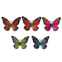 Wall Stickers 5Pcs Butterflies Decoration Lovely Art Indoor Outdoor Fence