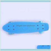 Skateboarding Action Sports & Outdoorsskateboarding 56Cm Skateboard Mini Longboard Pastel Color Skate Board With Led Flashing Wheels Retro F