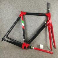 أحمر C64 الإطار الطريق دراجة الإطار الكربون دراجة الطريق الإطار إيطاليا العلم 48CM 50MM 52 سنتيمتر 54 سنتيمتر 56 سنتيمتر