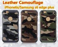 Camo Case 2 в 1 кожаный чехол для телефона TPU для яблока 6S плюс Samsung Note4 Note5 G530 комбинация гибрид