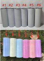 Tumblers retos de sublimação 20oz de cor UV mudando no copo de sol aço inoxidável canecas de isolamento garrafa de água de transferência térmica A02