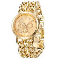 Designer horloge merk horloges luxe horloge SHION armband mannen gouden roestvrij stalen kwarts pols Montres Marque Luxe
