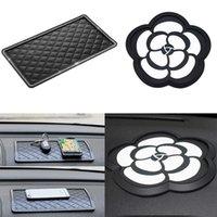 Tapis de tampon antidérapant intérieur de voiture de 1 pcs pour les clés de téléphone portable GPS Silicone Diamond strass de voiture, voiture collante Charme Charme antidérapante