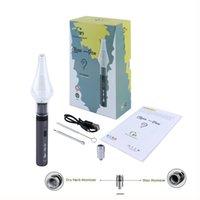 G9 temiz kalem buharlaştırıcılar 2-in-1 buhar marş kiti e-sigara kitleri balmumu çiçek vape değişken voltaj 1000 mah pil çift atomizers buharlaştırıcı cam bong dab rig