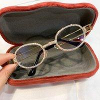 Sunglasses Blu ray sunglasses for men and women, retro, Steampunk, transparent lenses, rhinestones, eyeballs