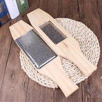 10 unids / set Wood metal ajo prensa manual ajo rallador ginger prensa cocina accesorios verde ajo helicador herramienta HWF7033