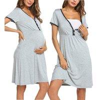 Annelik Elbiseler Kadın Gevşek Hamilelik Emzirme Casual Hamile Kadınlar için Dantel Yaz Dış Ev Tekerlekli Artı Boyutu 1547 B3