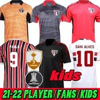 المشجعين لاعب النسخة 21 22 ساو باولو لكرة القدم الفانيلة داني ألفيس بابلو إيغور جوميز كرة القدم جيرسي التدريب قمصان هيرنانس لوسيانو رجل النساء الاطفال 2021 2022 حارس المرمى