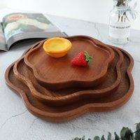 Forma de flores Placa de madera Pastel de caramelo Cena de fruta Postre Café Tailas de té Platos de almacenamiento Placas