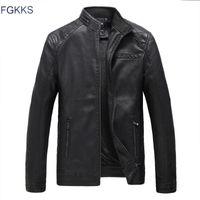 Motosiklet Deri Ceketler Erkekler Sonbahar Ve Kış Giyim Erkek Iş Gündelik Palto erkek Faux