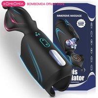 Masturbador de mamada para hombres Pulso automático Penis Trainer Massager Masterturbator Cup Pussy Glans Vibrator Sex Toys for Men Y201118