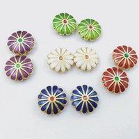 600pcs 12mm Cloisonne Enamel Daisy Loose Beads Wholesale DIY Jewelry Making Charm Earrings Bracelet Necklace Accessories