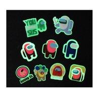 100pcs Personalizzato PVC Soft PVC Accessori dolci luminosi Glow Scarpa Charms Jibitz per il classico incandescente Bracciale Bracciale Band Band Bandband Fibbia