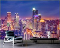 Wallpapers 3d Wallpaper Custom Mural Po The Living Room Of City's Night View Painting Wall Murals For Walls 3 D