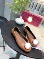 Moda mulher balé sapatos genuíno couro macio menina preguiçoso vestido sapatos de metal fivela clássico mulher carneiro de pele de carneiro tênis tênis tamanho 35-4