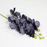 Красивые 8 головок Орхидея филиал искусственные цветы для рождественских осенью свадебные украшения Флорес искусственные декоративные венки