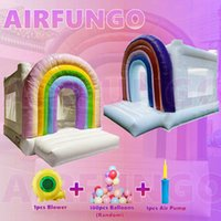 Rainbow Wedding Party White Bouncers Children Candy Color 10ft Bounce Castles Bounces House Moonwalk Rentals Inflatable Jump Bouncy Castle For Event OUTDOOR Play