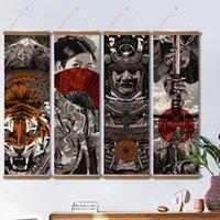 Картины Японские Samurai Укитие холст прокрутки плакаты и принты стены искусства Фотографии для гостиной дома декор с рамкой