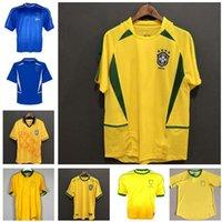 98 97 88 00 Brasil Soccer Jerseys 02 القمصان الرجعية Carlos Romario Ronaldo Ronaldinho 2004 Camisa de Futebol 1994 البرازيل 2006 1982 Rivaldo Adriano