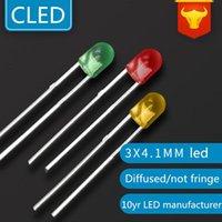 Lâmpadas 1000 Pcs 3mm LEDs Vermelho / Verde / Azul / Branco Redondo LED DIP 4.1mm Altura sem bulbo difuso