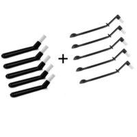 Iyounice 2 em 1 escova nylon espresso moedor escovas café colher máquina de cozinha cabeça ferramentas de cozinha