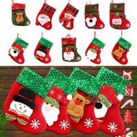 Christmas Decorations 2022 Year Stocking Sack Xmas Gift Candy Bag Noel For Home Navidad Sock Tree Decor